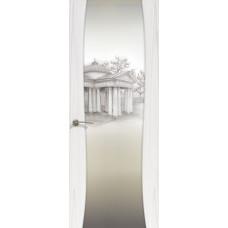 Буревестник-2, Ясень белый жемчуг, остекленная с рисунком