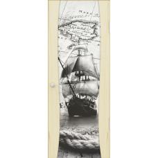 Буревестник-2, Ясень слоновая кость, остекленная с рисунком