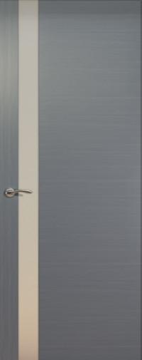Дверь de Vesta, Серебристый дуб, остекление L, стекло белое