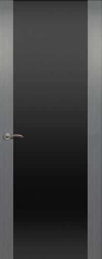 Дверь de Vesta, Серебристый дуб, остекление P, стекло черное