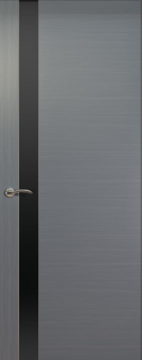 Дверь de Vesta, Серебристый дуб, остекление L, стекло черное