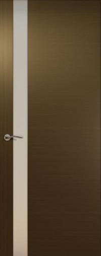 Дверь de Vesta, Венге, остекление L, стекло белое