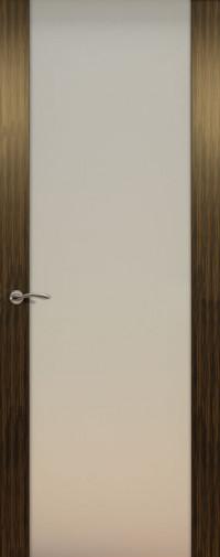 Дверь de Vesta, Эбен светлый, остекление P, стекло белое