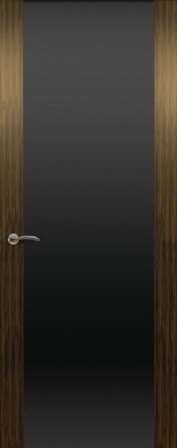 Дверь de Vesta, Эбен светлый, остекление P, стекло черное