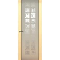 Дверь de Vesta Concept, Беленый дуб, остекление P