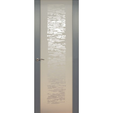 Дверь de Vesta EGO, Серебристый дуб, остекление P