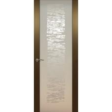 Дверь de Vesta EGO, Орех светлый, остекление P