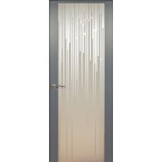 Дверь de Vesta Flex, Серебристый дуб, стекло белое