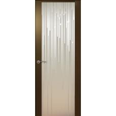 Дверь de Vesta Flex, Венге, стекло белое