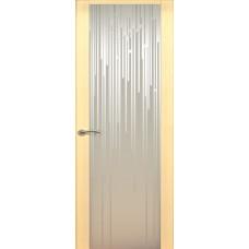Дверь de Vesta Flex, Беленый дуб, стекло белое