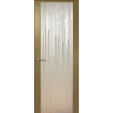 Дверь de Vesta Flex, Серый дуб, стекло белое