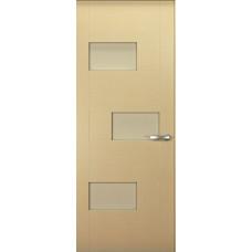 Дверь de Vesta Matrix, Беленый дуб, остекленное