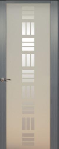 Дверь de Vesta Nova, Серебристый дуб, стекло белое