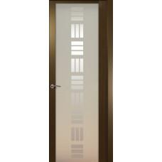 Дверь de Vesta Nova, Венге, стекло белое