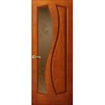Дверь Шарм, Красное дерево, Стекло