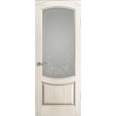 Дверь Лувр,  Ясень Белый жемчуг, Стекло