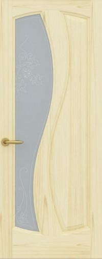 Дверь Шарм, Ясень слоновая кость, Стекло