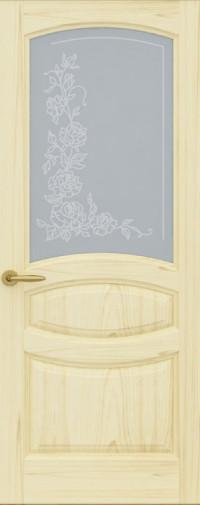 Дверь Изабелла, Ясень слоновая кость, Стекло