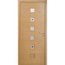 Дверь Оникс Вега, стекло, беленый дуб