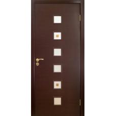 Дверь Оникс Вега, стекло, венге