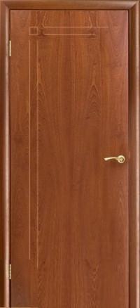 Дверь Оникс Вертикаль, глухое, красное дерево