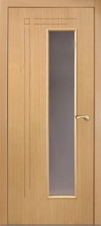 Дверь Оникс Вертикаль, cтекло, беленый дуб