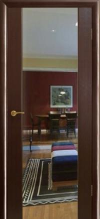 Дверь Оникс Престиж с зеркалом, венге