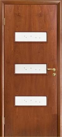 Дверь Оникс Виктория, cтекло, красное дерево