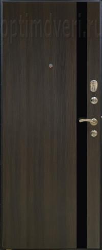 Дверь входная Оптим M-6 Черный шелк, венге